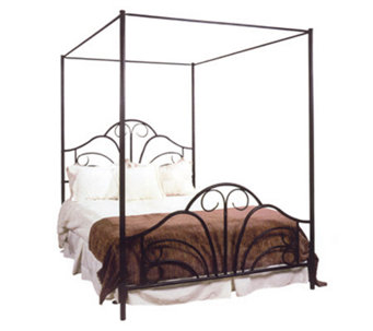 Hillsdale House Dover Canopy Full Bed with Rails - H114911