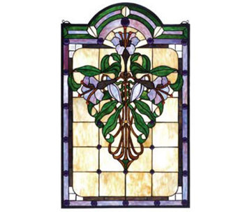 Meyda Tiffany-Style Flower Window Panel - H124411