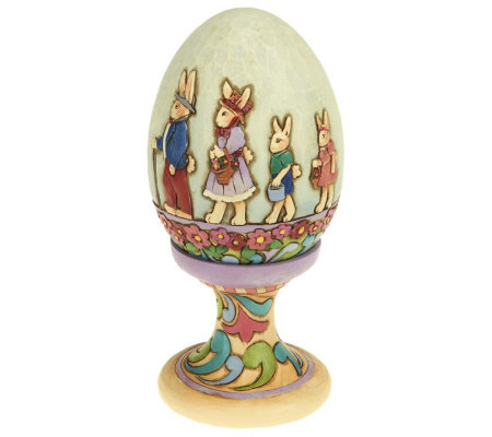 Jim Shore Heartwood Creek Decorative Egg on Stand