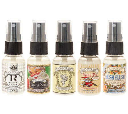 Poo Pourri Set Of 5 1oz Bathroom Deodorizers W Organza Bag Page 1