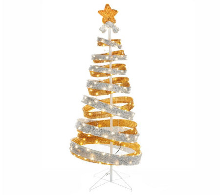 Kringle Express 6' Outdoor Collapsible Spiral Tree