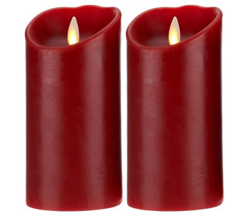 "Luminara Set of 2 4"" Flameless Candles with Timer - H206111"
