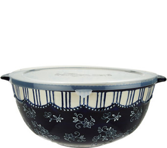 Temp-tations Floral Lace 6 qt. Mixing Bowl with Plastic Lid - H206911