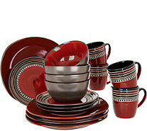 Cook's Essentials Tucson 16-pc Ceramic Dinnerware Set - H211111
