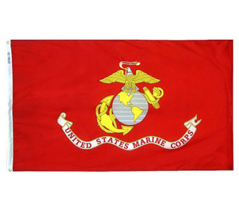 Annin Marine Corps Nyl-Glo Flag with Grommets 3' x 5' - H282211