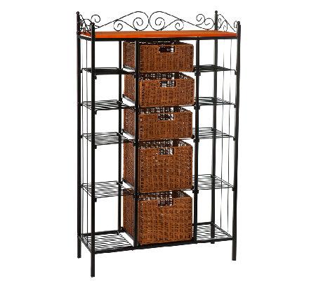 crestline five drawer baker 39 s rack. Black Bedroom Furniture Sets. Home Design Ideas