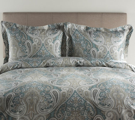 100% Cotton Crystal Palace King Duvet Cover andShams Set