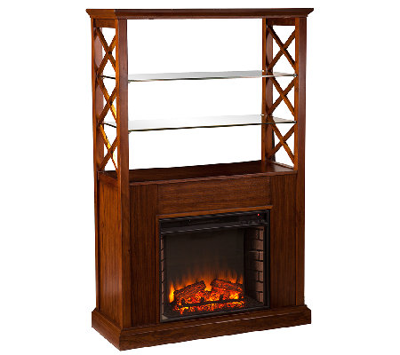Owen Electric Fireplace Curio Tower