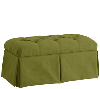Skirted Storage Bench in Velvet by Valerie - H288311