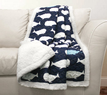 Whale Sherpa Throw by Lush Decor - H288611