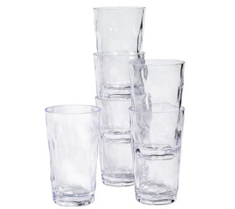 Tabletops Unlimited Set of 6 20-oz Acrylic Tumblers - H289311