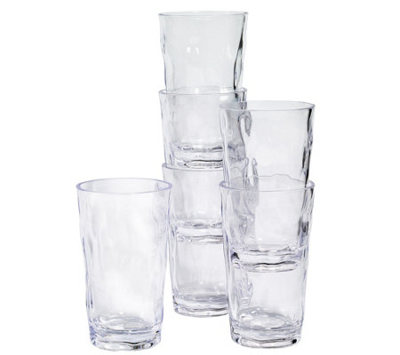 Tabletops Unlimited Set of 6 20-oz Acrylic Tumblers