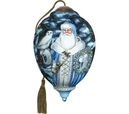 "6.75"" Limited Edition Santa of the North Ornament By Ne'Qwa"