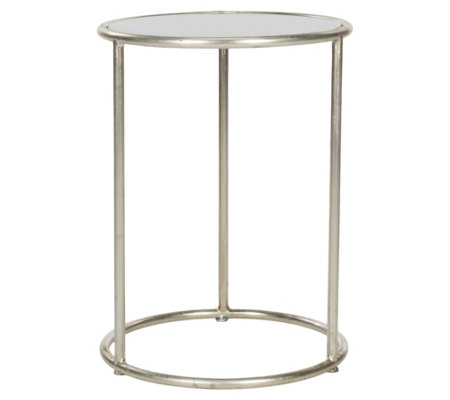 Shay Glass Top Gold Leaf Accent Table by Valerie