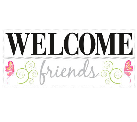 RoomMates Welcome Friends Peel & Stick Wall Decals