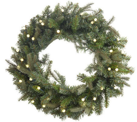 "BethlehemLights BatteryOperated 26"" Pre-lit Wreath with"