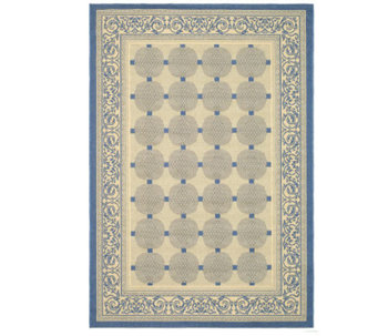 "Safavieh Courtyard Lattice Flower 4' x 5'7"" Rug - H179012"