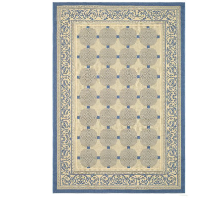 "Safavieh Courtyard Lattice Flower 4' x 5'7"" Rug"