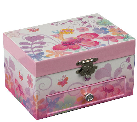 "Mele & Co. ""Ashley"" Musical Ballerina Jewelry Box"