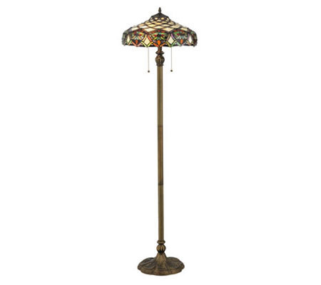 "Tiffany Style 60"" Franco Floor Lamp"