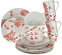 Cook's Essentials Alexandria 16-piece Dinnerware Set - H211112