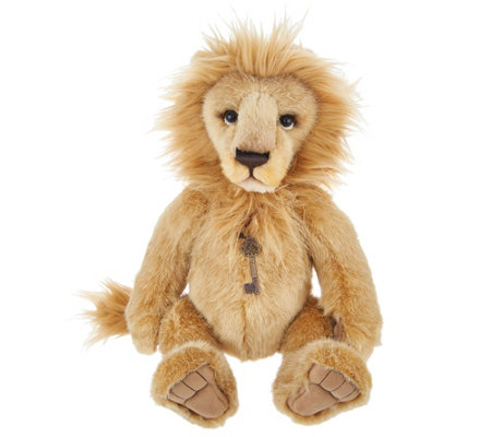 "Charlie Bears Collectible 17.5"" Linus Plush Lion Bear"