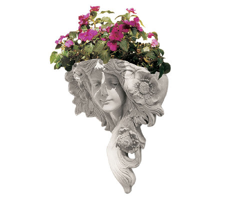 Design Toscano Poppies and Tresses Wall Sculpture and Planter