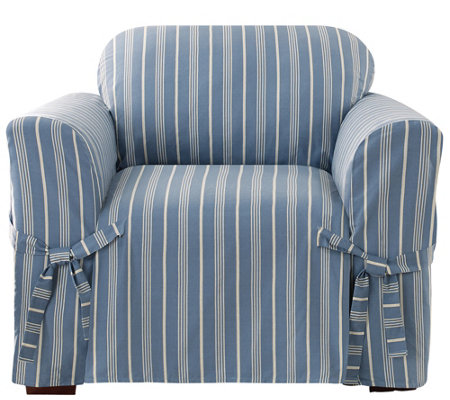 Sure Fit Grain Sack Stripe Chair Slipcover