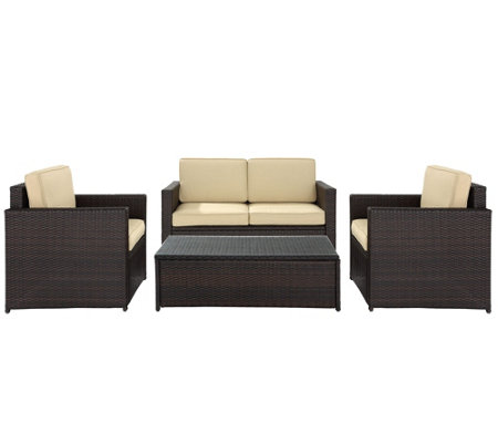 Palm Harbor 4-Piece Outdoor Wicker Seating Set