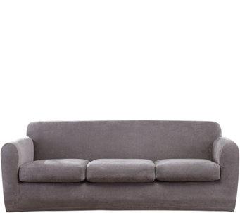 Sure Fit Stretch Chenille 3 Cushion Sofa Slipcover