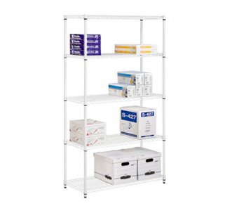 Honey-Can-Do 5-Tier Steel Adjustable Shelving Unit - 800 lbs - H356412