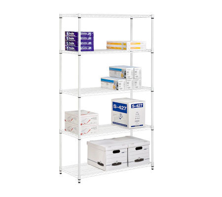 Honey-Can-Do 5-Tier Steel Adjustable Shelving Unit - 800 lbs