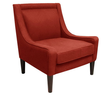 Skyline Furniture Mid-Century Swoop Linen Arm Chair