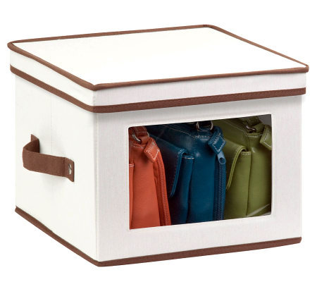 Honey-Can-Do Natural Canvas Medium Window Storage Box