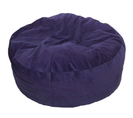 Convertible Beanbag Style Queen Chair/Bed W/ Corduroy Cover