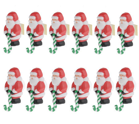 Set of 12 Santa or Snowmen Decoration Hooks