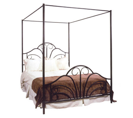 Hillsdale House Dover Queen Canopy Bed with Rails