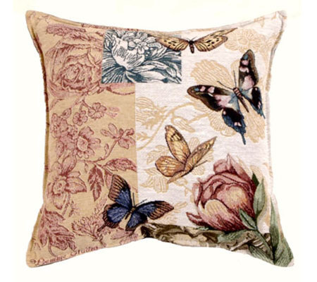 Butterfly Floral Pillow by Simply Home