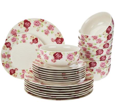 Floral Porcelain Service for 8 Dinnerware Set  sc 1 st  QVC.com & Gorham 32-pc. Floral Porcelain Service for 8 Dinnerware Set - Page 1 ...