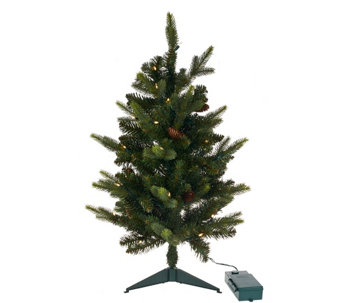 "Bethlehem Lights 15th Anniversary 30"" Prelit Stake Tree - H205813"
