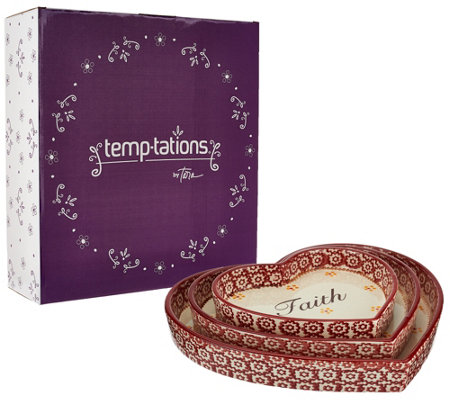 Temp-tations Old World S/3 Nested Heart Lid-its and Gift Box