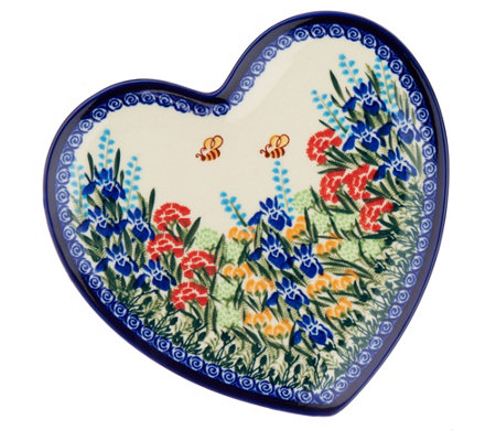 Lidia\u0027s Polish Pottery Heart Plate  sc 1 st  QVC.com & Lidia\u0027s Polish Pottery Heart Plate - Page 1 \u2014 QVC.com