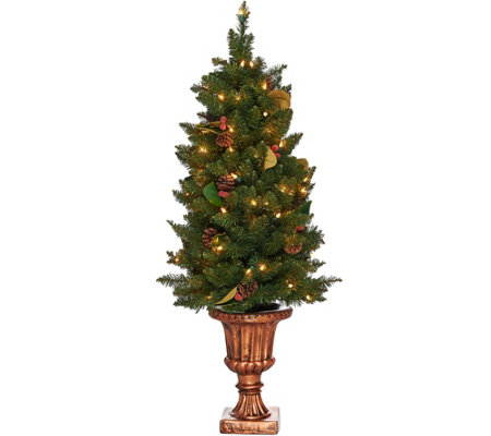 """As Is"" Bethlehem Lights 4' Indoor/Outdoor Lit Urn Tree"