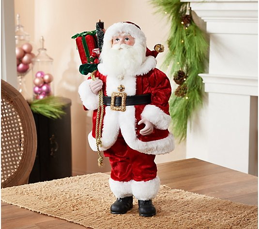 18 Decorative Santa Claus With Gifts By Valerie Qvc Com
