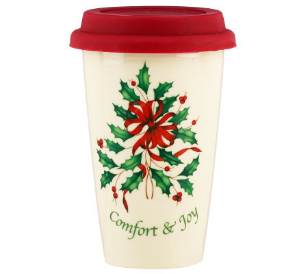 Lenox Holiday Comfort & Joy Travel Mug
