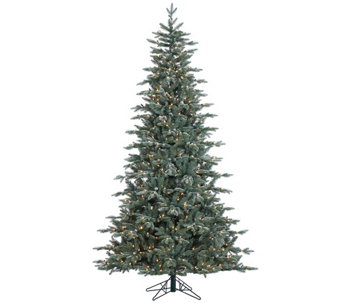 7.5' Prelit Frosted Crystal Balsam Tree by Valerie - H286913