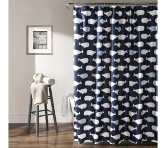 Whale Shower Curtain by Lush Decor - H288613