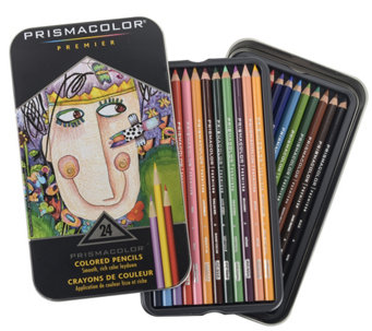Prismacolor Premier Colored Pencil 24-Piece Setwith Tin - H288713