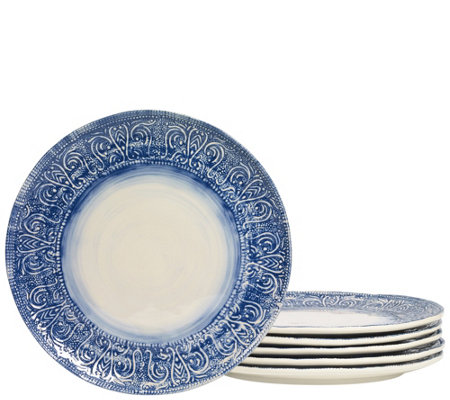 "Tabletops Gallery 11"" Round Melamine DinnerPlate Set"