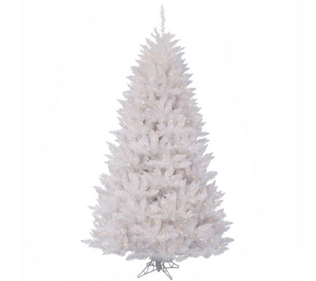3.5' Sparkle White Spruce Tree with Clear Lights by Vickerman